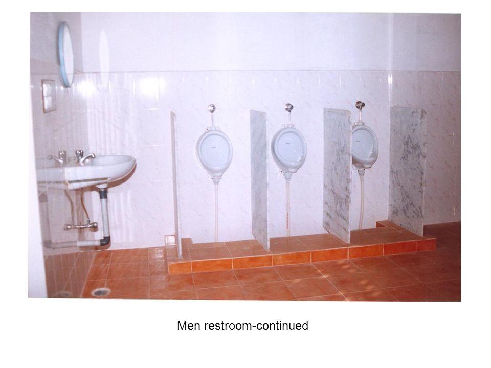 Men restroom-continued