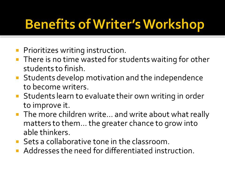  Prioritizes writing instruction.