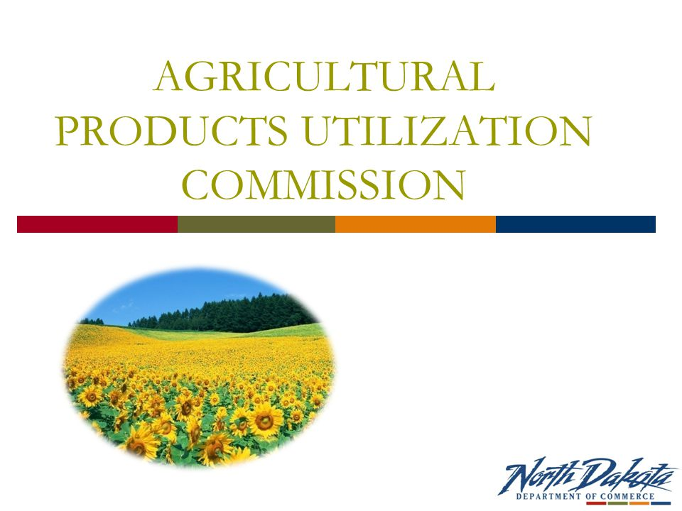AGRICULTURAL PRODUCTS UTILIZATION COMMISSION