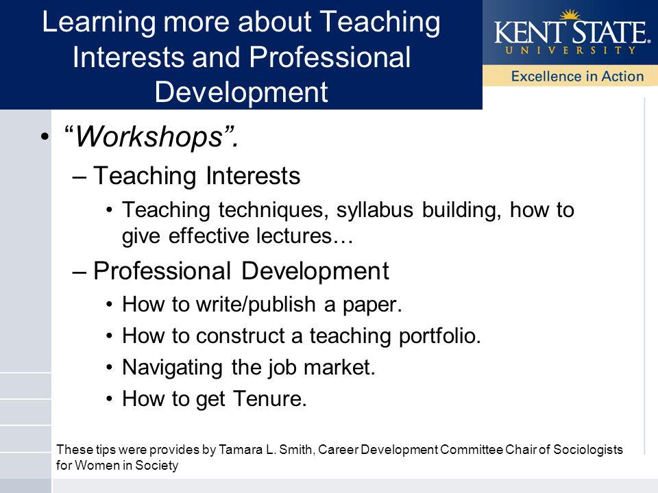 Workshops .