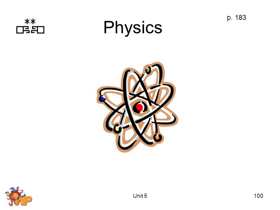 Unit 5100 Physics p. 183