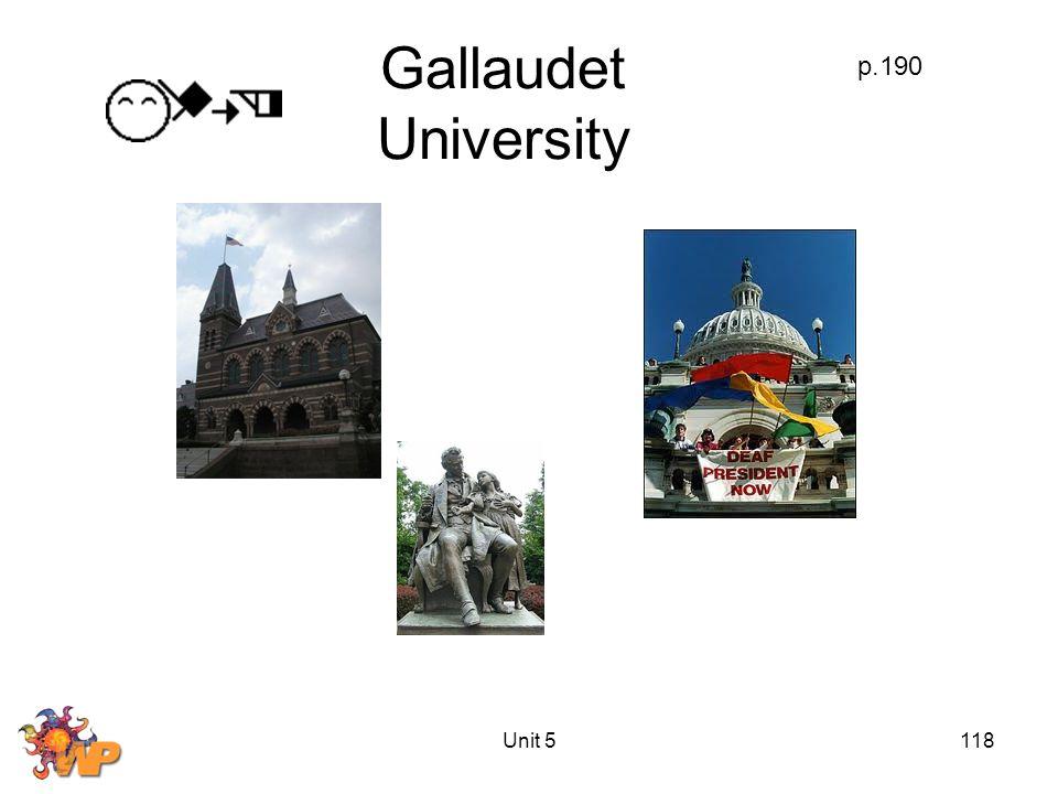 Unit 5118 Gallaudet University p.190
