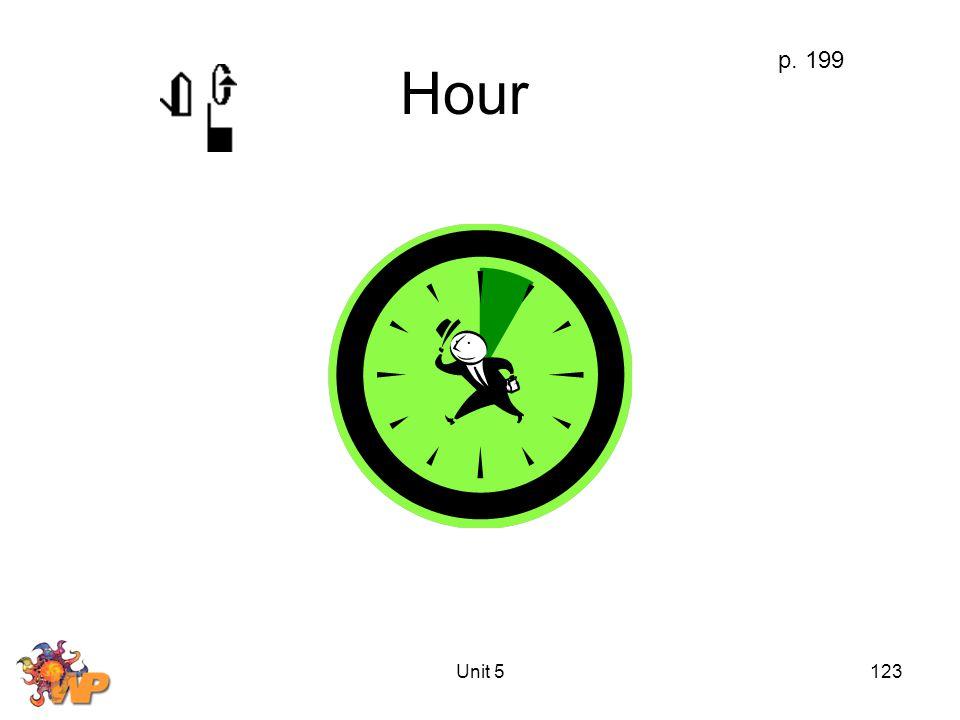 Unit 5123 Hour p. 199