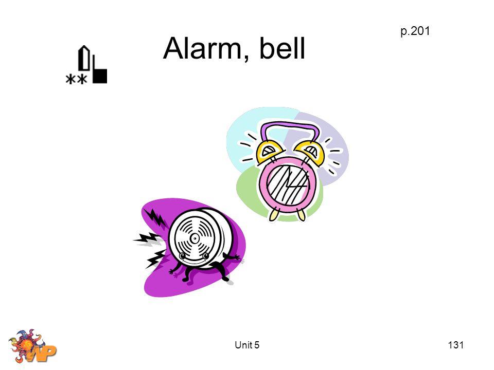 Unit 5131 Alarm, bell p.201