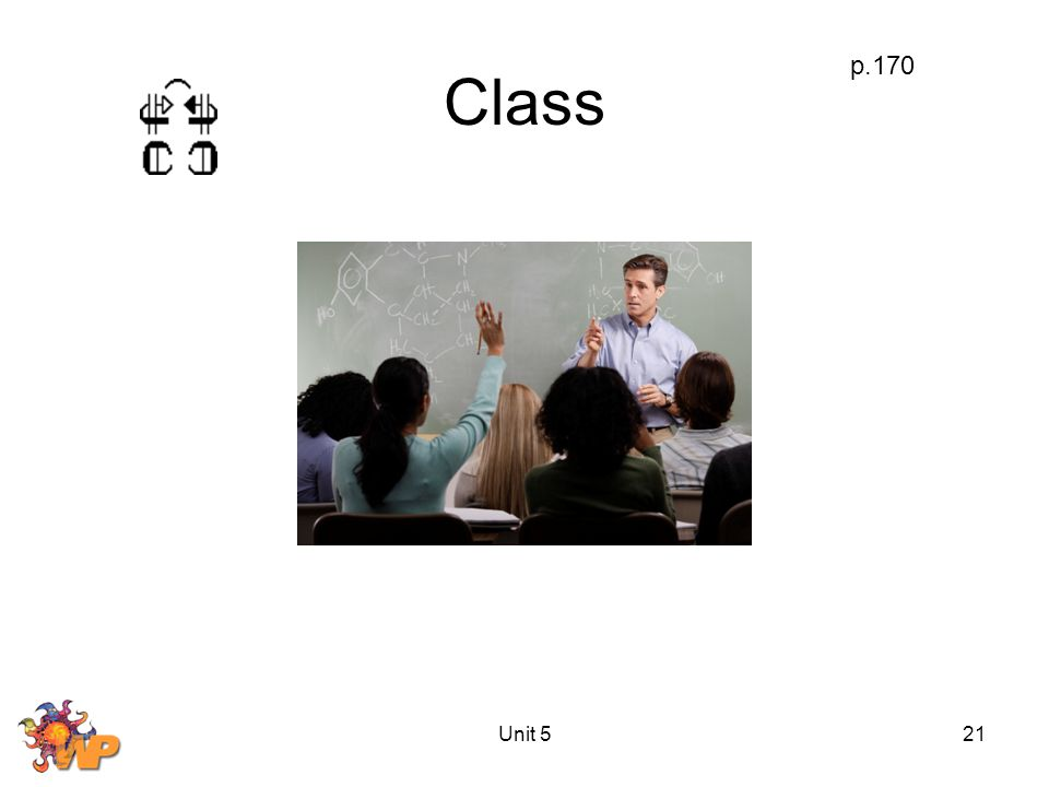 Unit 521 Class p.170