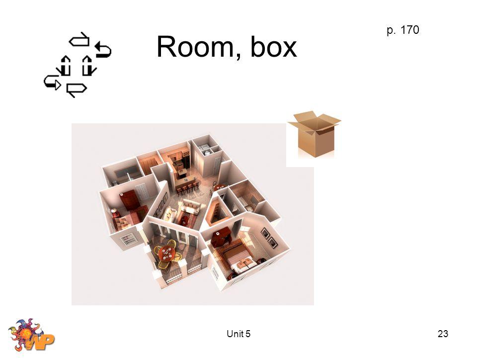 Unit 523 Room, box p. 170