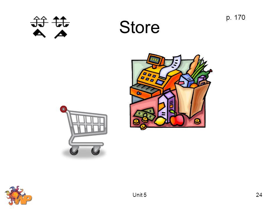 Unit 524 Store p. 170