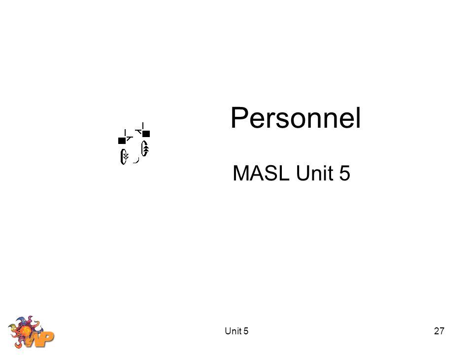 Unit 527 Personnel MASL Unit 5