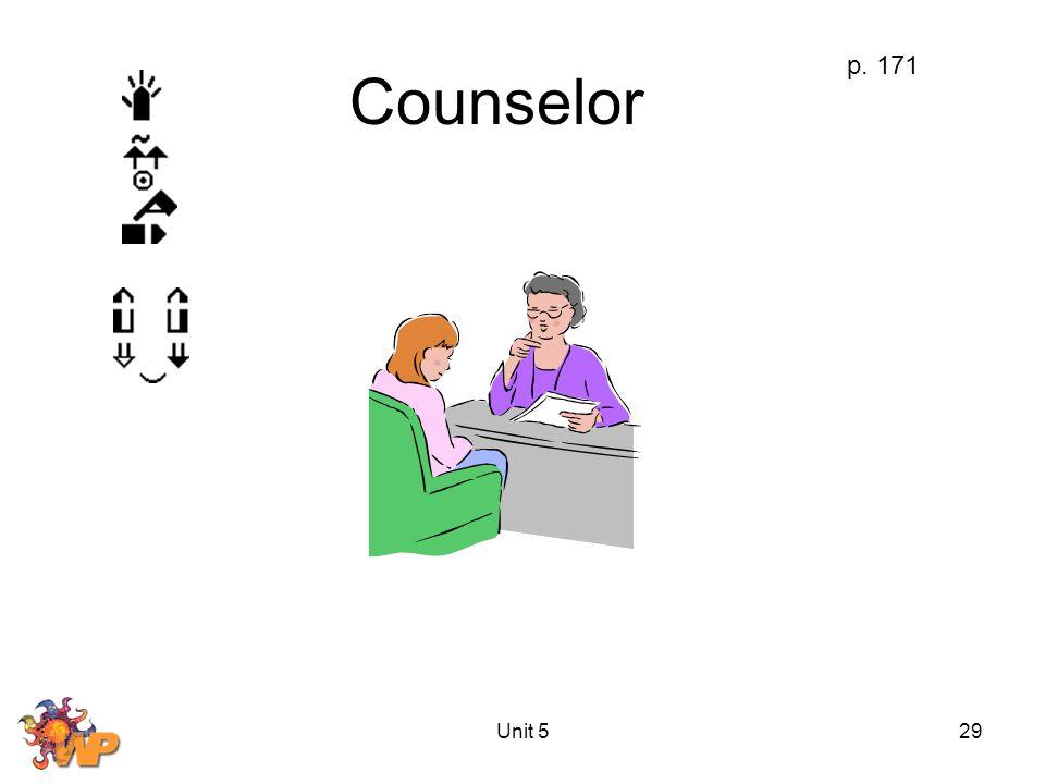 Unit 529 Counselor p. 171