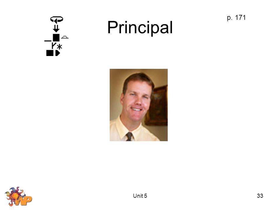 Unit 533 Principal p. 171