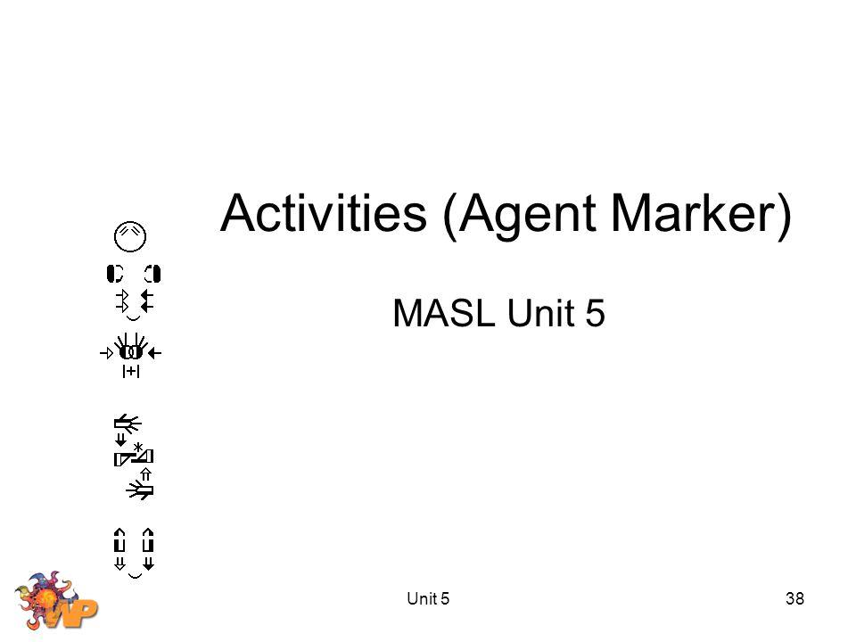 Unit 538 Activities (Agent Marker) MASL Unit 5