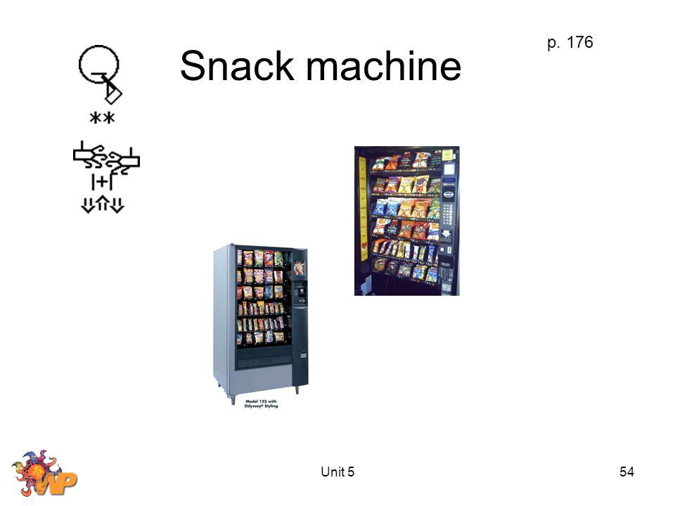 Unit 554 Snack machine p. 176