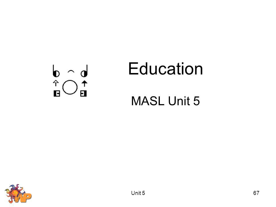 Unit 567 Education MASL Unit 5
