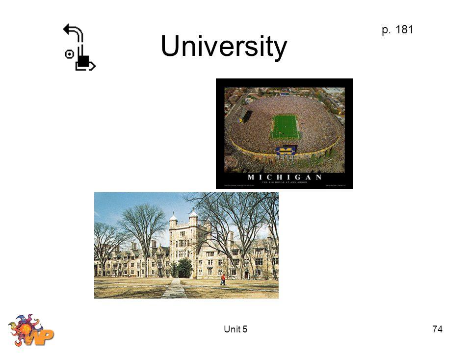 Unit 574 University p. 181