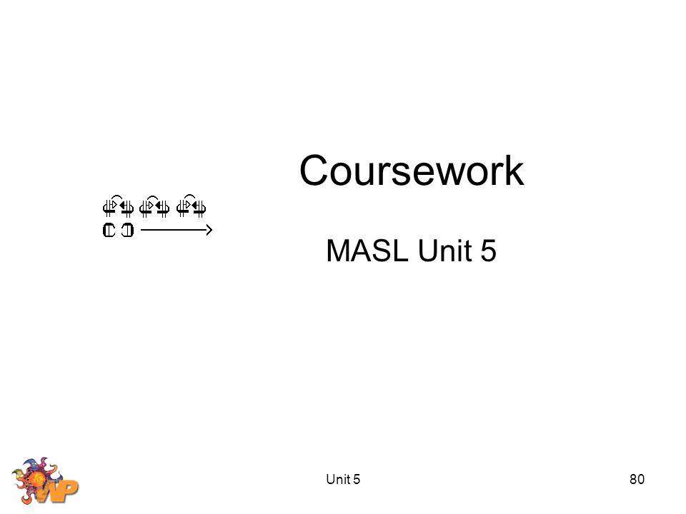 Unit 580 Coursework MASL Unit 5