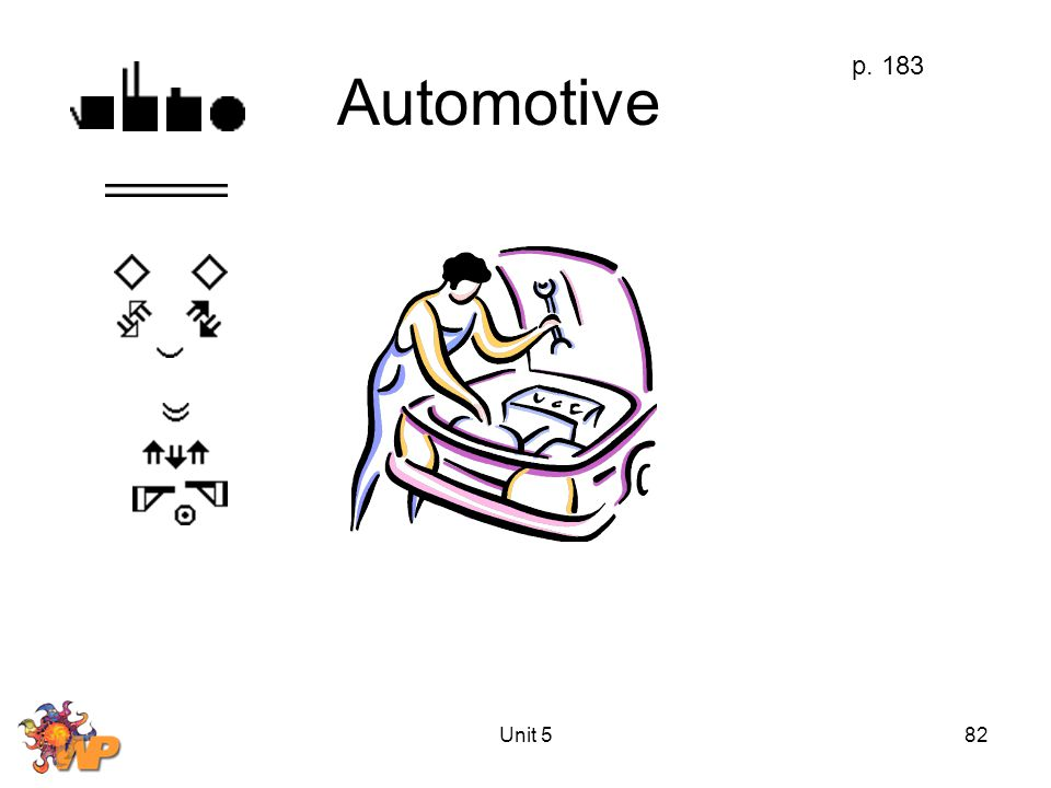 Unit 582 Automotive p. 183