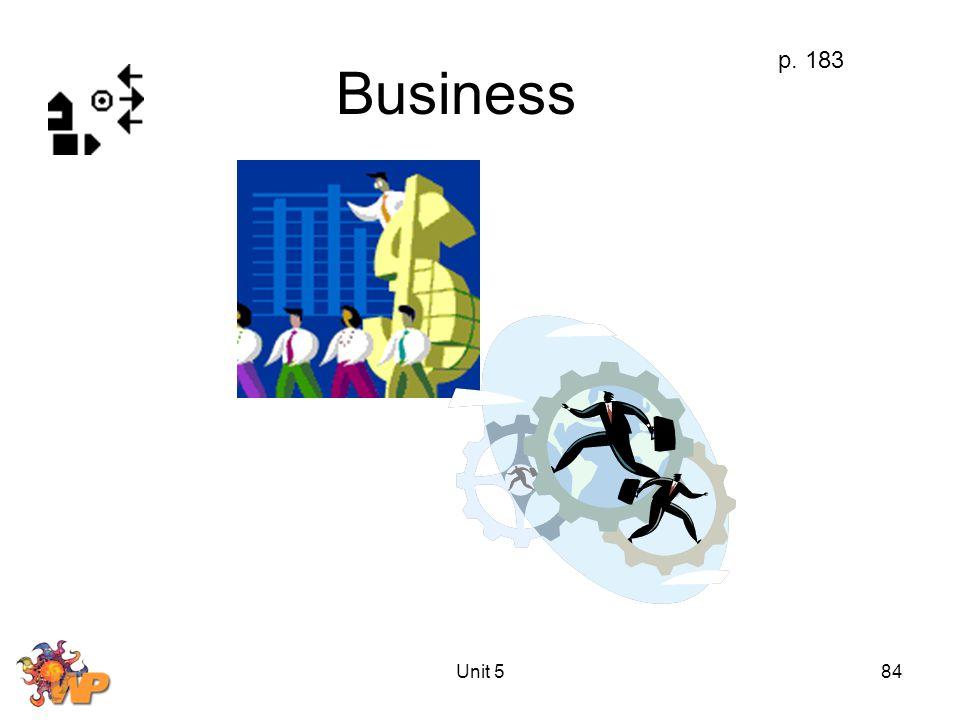 Unit 584 Business p. 183