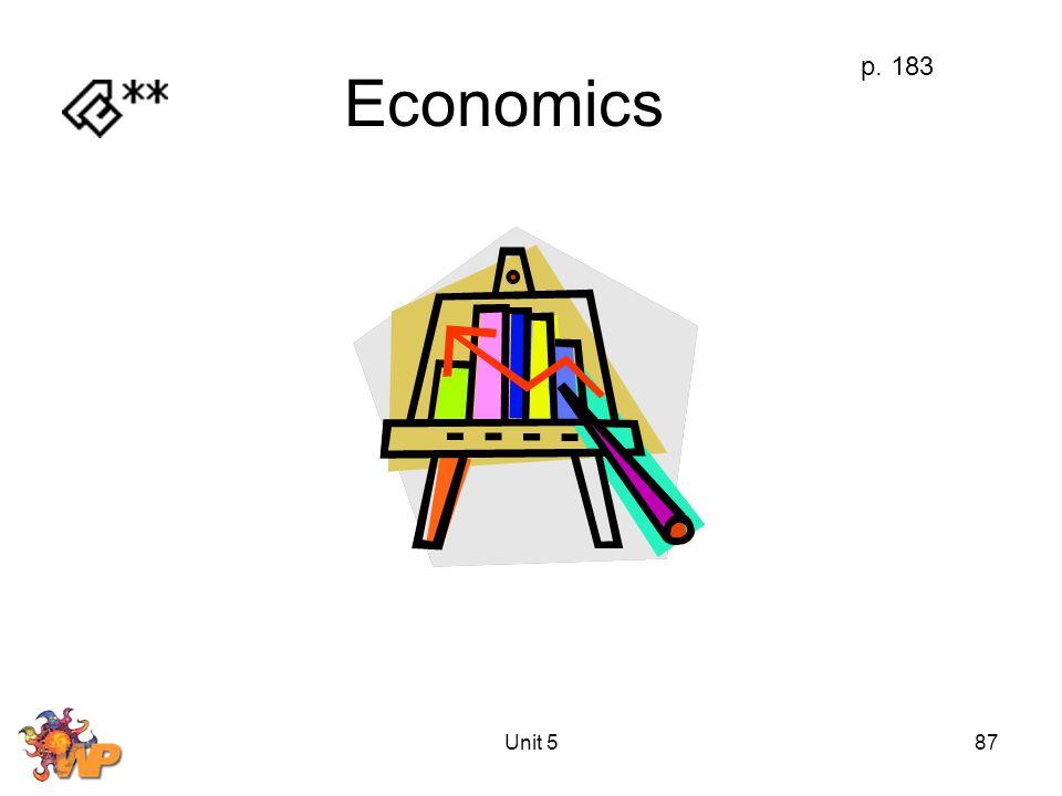 Unit 587 Economics p. 183