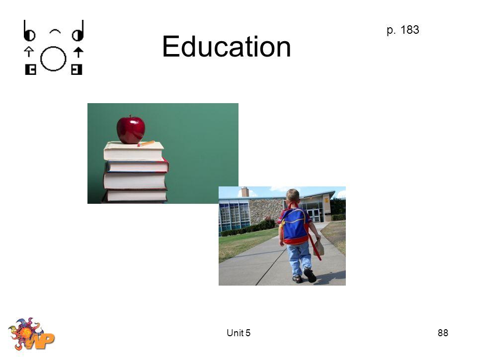 Unit 588 Education p. 183