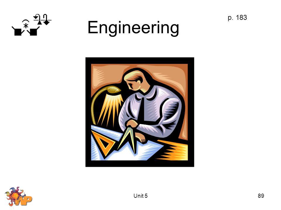Unit 589 Engineering p. 183