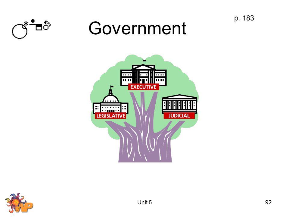 Unit 592 Government p. 183