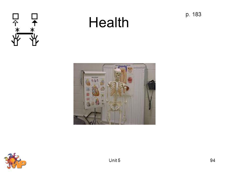 Unit 594 Health p. 183
