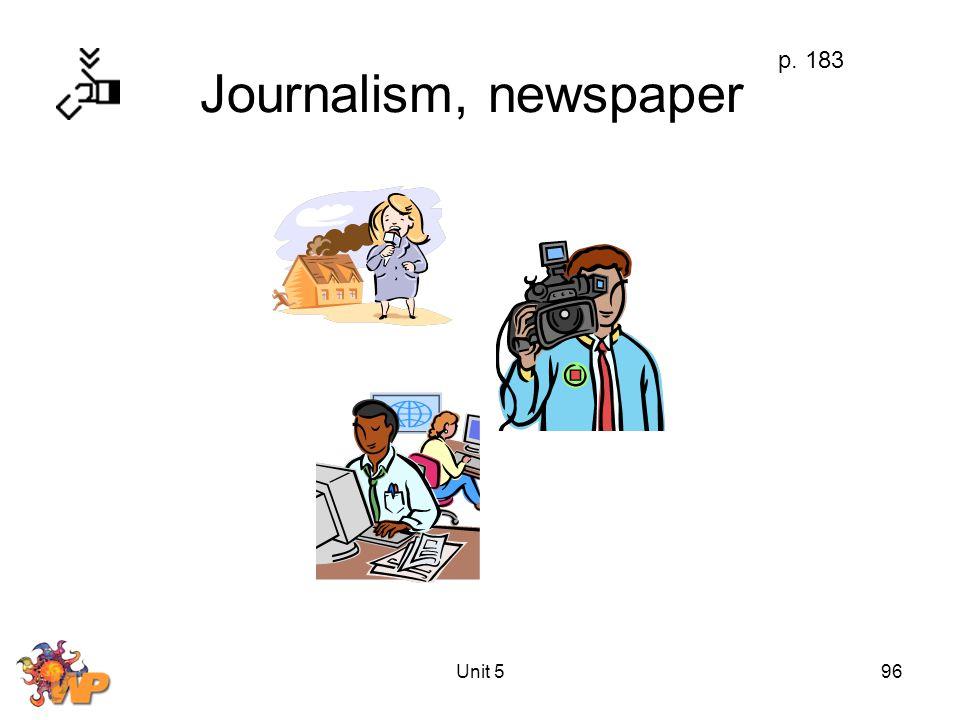 Unit 596 Journalism, newspaper p. 183