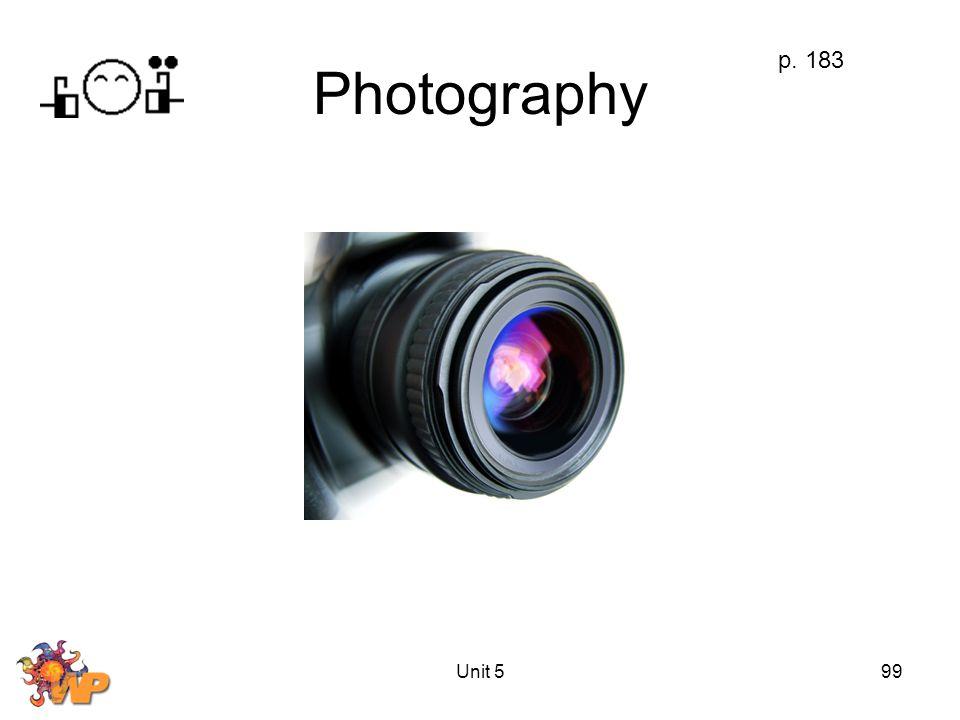 Unit 599 Photography p. 183