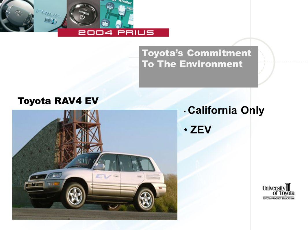 Toyota RAV4 EV California Only ZEV