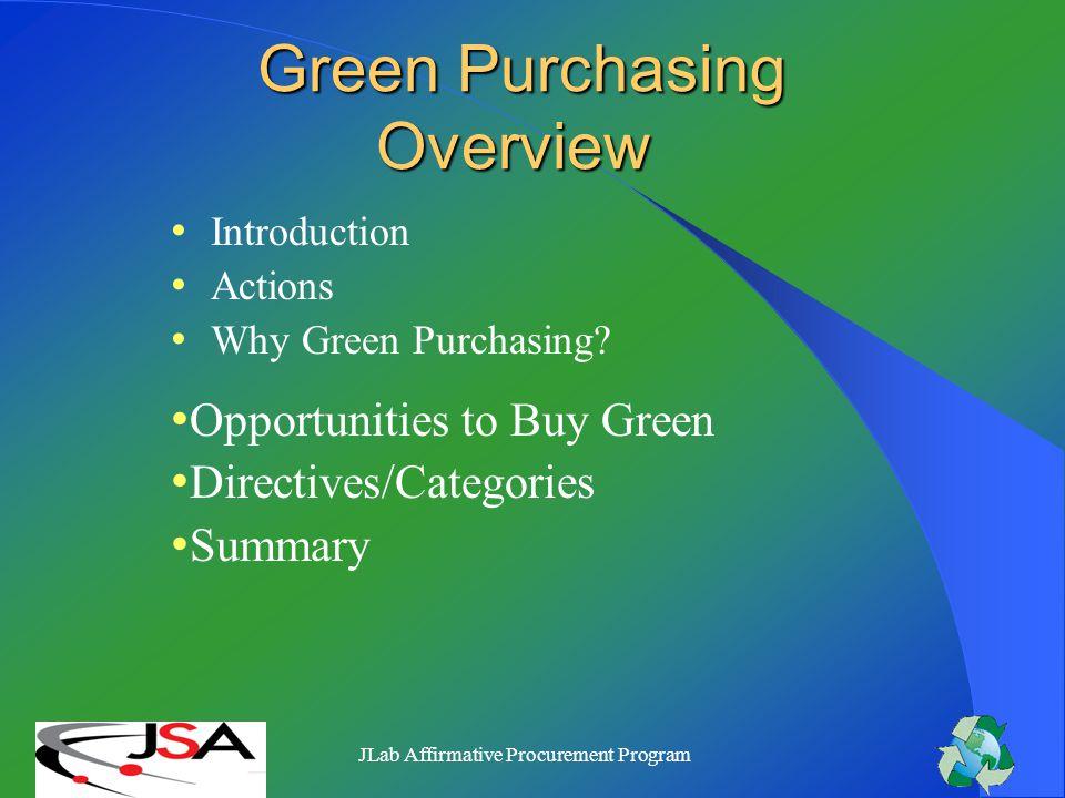 JSA/Jefferson Lab Green Purchasing