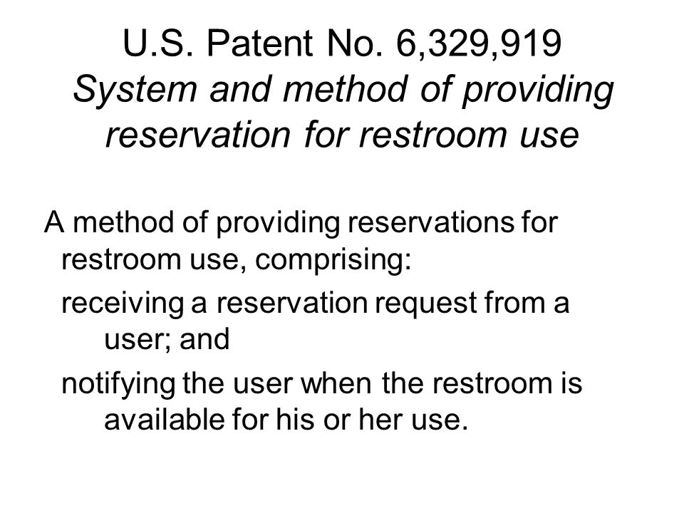 U.S. Patent No.
