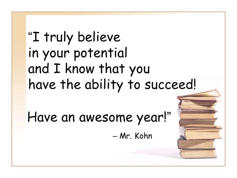 Have an awesome year! – Mr.