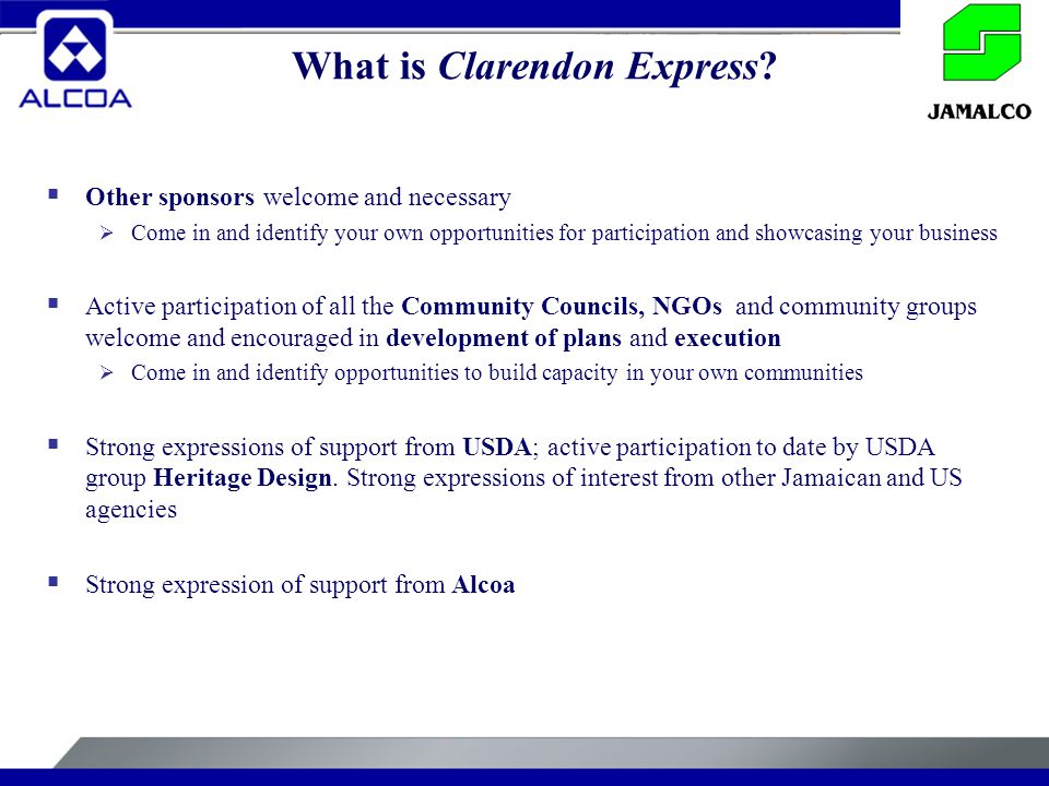 What is Clarendon Express.