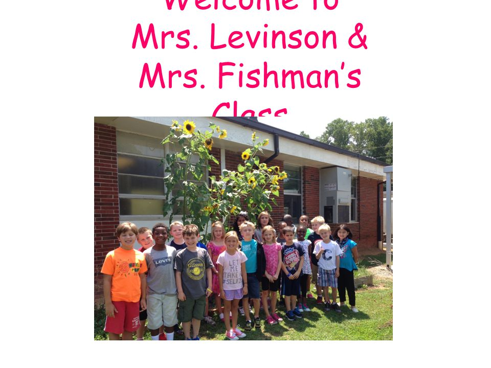 Welcome to Mrs. Levinson & Mrs. Fishman's Class