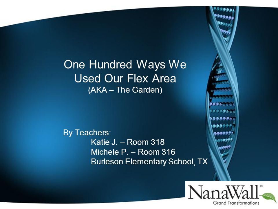 One Hundred Ways We Used Our Flex Area (AKA – The Garden) By Teachers: Katie J.