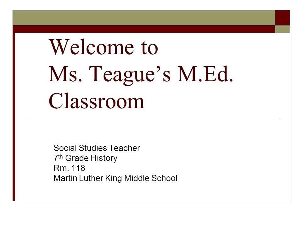 Ms.Teague's S.S.