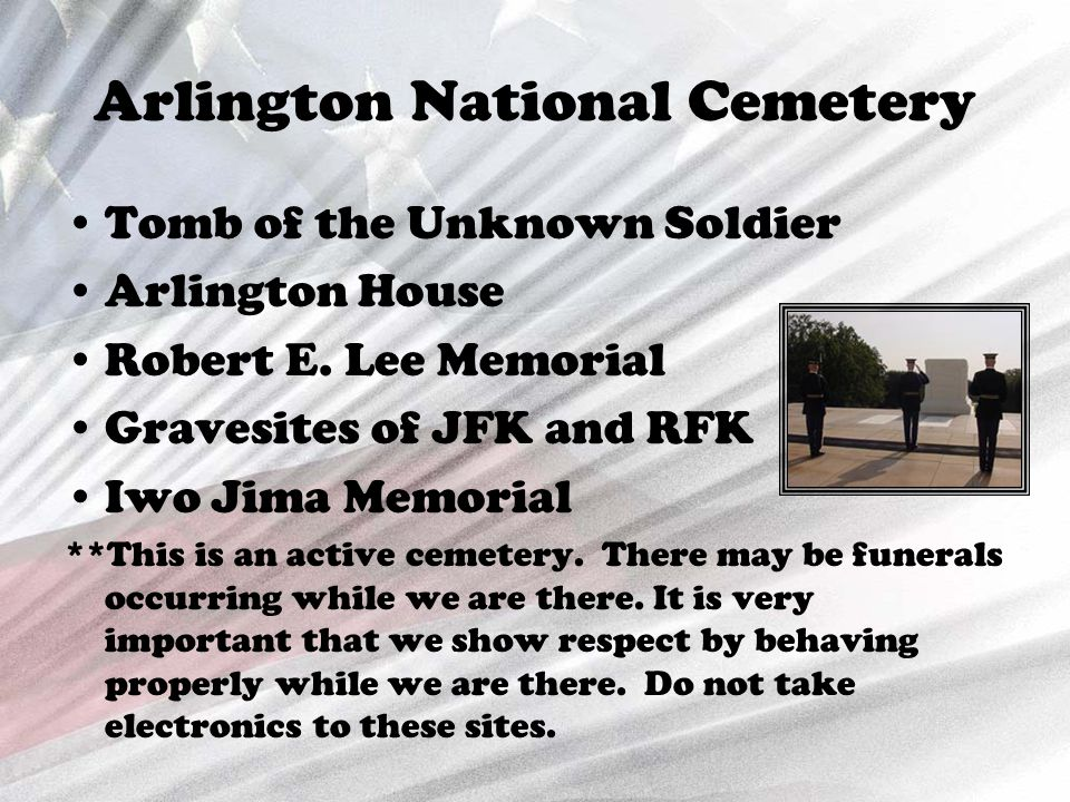 Arlington National Cemetery Tomb of the Unknown Soldier Arlington House Robert E.