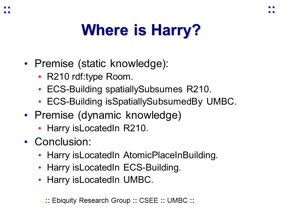 :: Ebiquity Research Group :: CSEE :: UMBC :: :: :: Where is Harry.