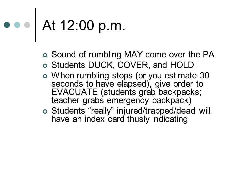 At 12:00 p.m.