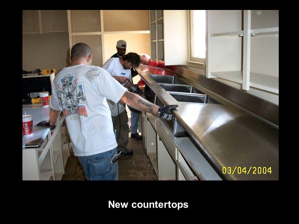 New countertops