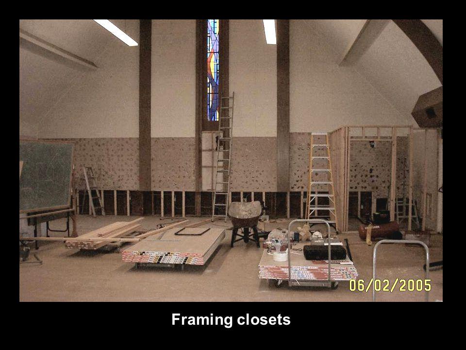 Framing closets