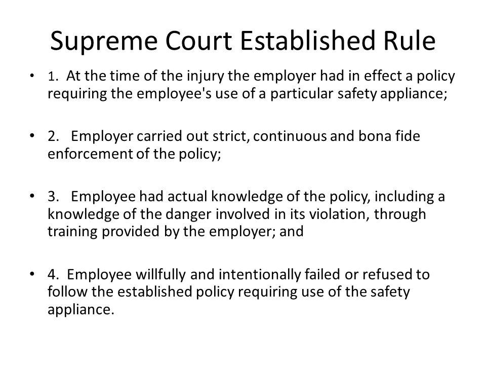 Supreme Court Established Rule 1.