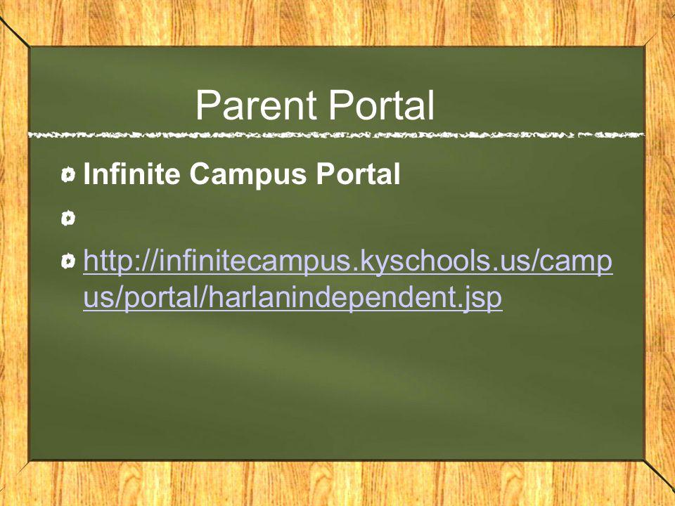 Parent Portal Infinite Campus Portal http://infinitecampus.kyschools.us/camp us/portal/harlanindependent.jsp