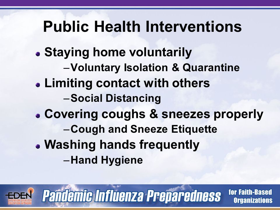 Infection Control & FBOs FBOs serve people and communities.