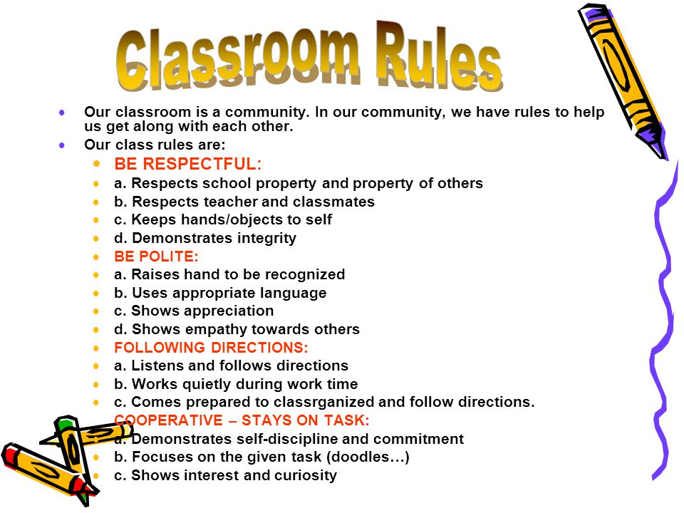  Our classroom is a community.