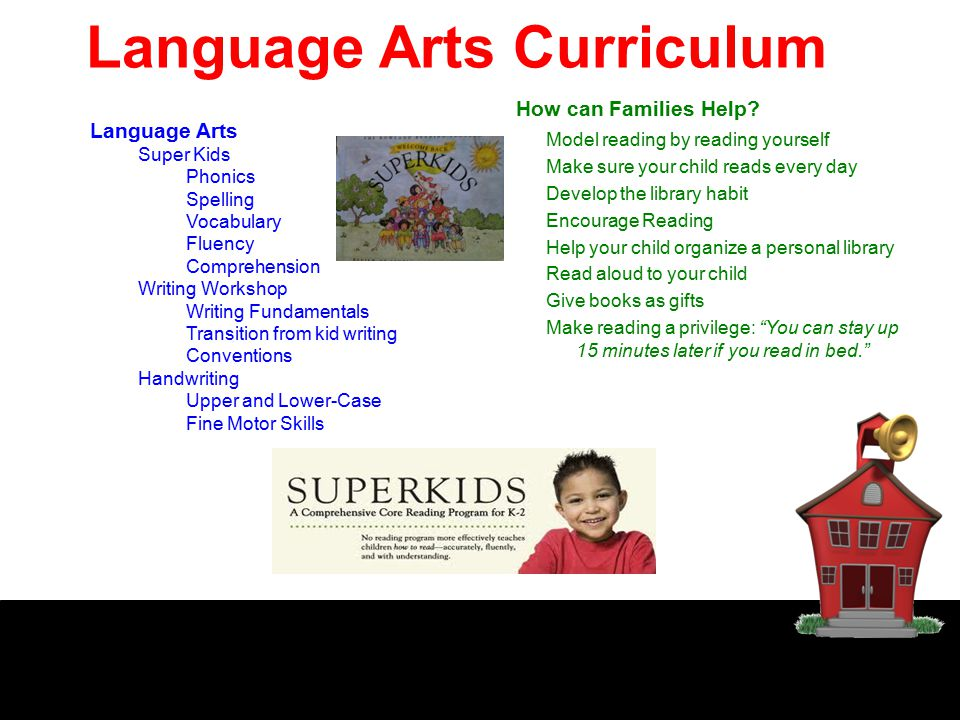 Language Arts Curriculum Language Arts Super Kids Phonics Spelling Vocabulary Fluency Comprehension Writing Workshop Writing Fundamentals Transition f