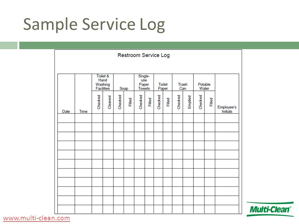 Sample Service Log