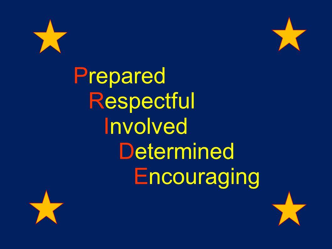 Prepared Respectful Involved Determined Encouraging