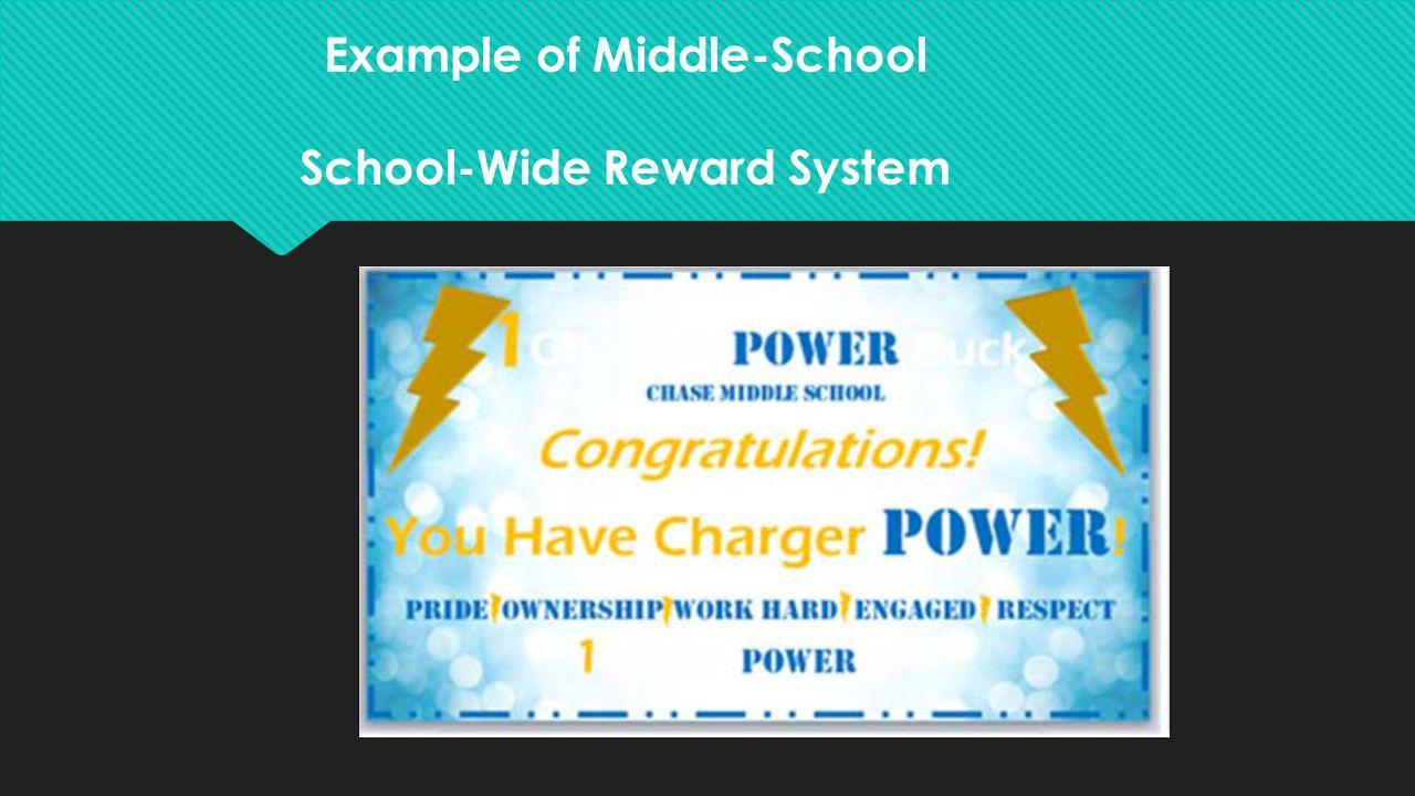 Example of Middle-School School-Wide Reward System