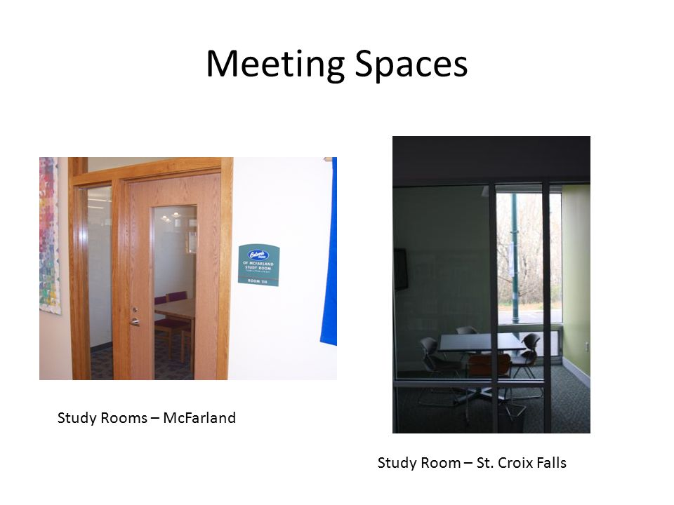 Meeting Spaces Study Rooms – McFarland Study Room – St. Croix Falls